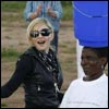Madonna and her daughters in Malawi