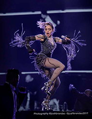 The photo that was selected as the official cover for the Rebel Heart Tour DVD, Blu-ray and CD