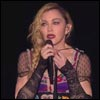 Madonna cries during her speech in Stockholm