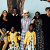 Madonna and her 6 children pose for her birthday fundraiser for Malawi
