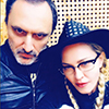 Madonna in the recording studio with producer Mirwais