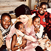 Madonna and 4 of her 6 Unicorns during the Christmas holidays