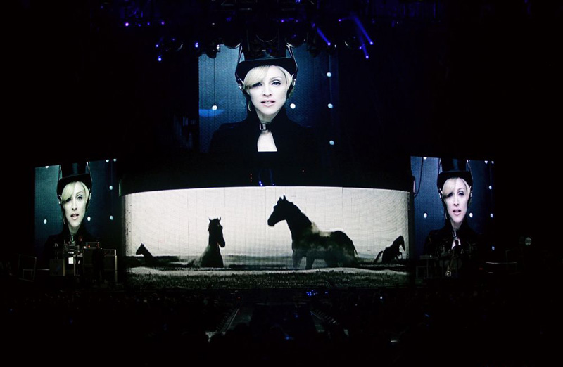 Madonna's passion to horses as shown on tour